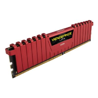 CORSAIR Vengeance LPX - DDR4 - 4 GB - DIMM 288-pin - unbuffered   Unbuffered  14-16-16-31  Ven geance LPX Red Heat