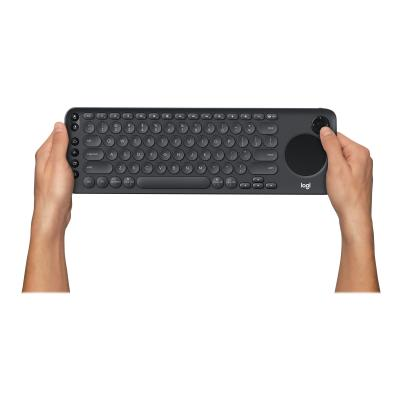 Logitech K600 TV - keyboard - with touchpad, D-pad - graphite black  with integrated touchpad and D-pad (Graphite Blac
