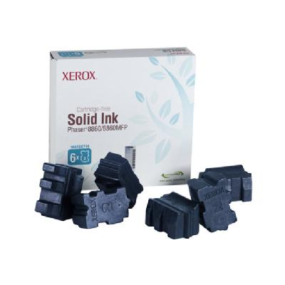 Xerox Phaser 8860MFP - 6-pack - cyan - solid inks  - Phaser 8860MFP Phaser 8860- (6 Sticks)