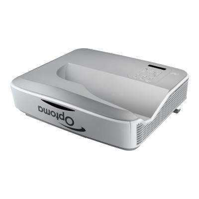 Optoma ZW300USTi - DLP projector - ultra short-throw - 3D er  22 000:1 contrast  12.3 lb s  0.27 ultra short