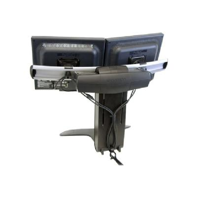 Ergotron LX Dual Display Lift Stand - stand - for 2 LCD displays  size: up to 23 - mounting int erface: 100 x 100 mm