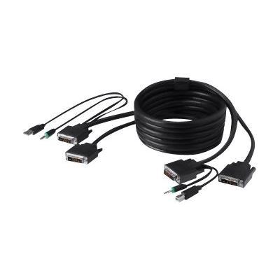 Belkin Secure KVM Cable Kit - video / USB / audio cable kit - 3 m - B2B FT