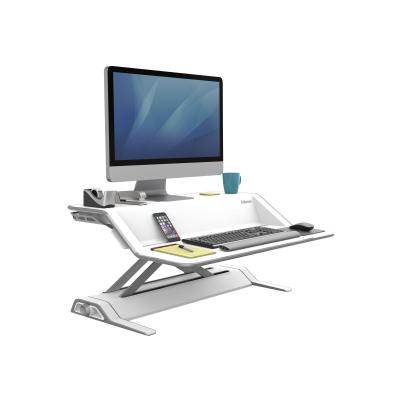 Fellowes Lotus Sit-Stand Workstation - pied (Waterfall)  ACCS