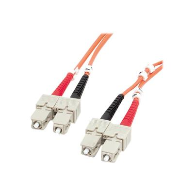 StarTech.com 2m Fiber Optic Cable - Multimode Duplex 62.5/125 - LSZH - SC/SC - OM1 - SC to SC Fiber Patch Cable (FIBSCSC2) - network cable - 2 m for high-speed transfers with LSZH rated cable - 2