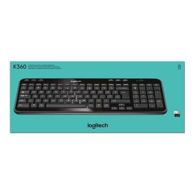 Logitech Wireless Keyboard K360 - keyboard - English - glossy black