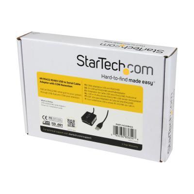 StarTech.com 6 ft Professional RS422/485 USB Serial Cable Adapter w/ COM Retention (ICUSB422) - serial adapter - USB - RS-422/485 o your system through USB  fea tures COM port reten