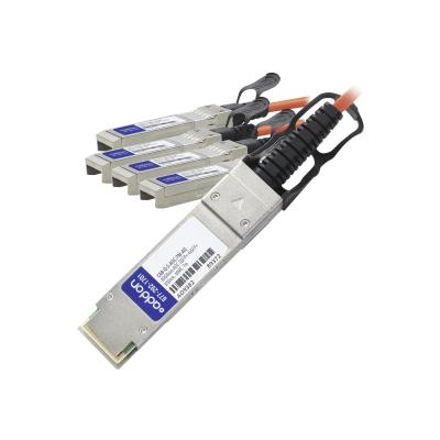 AddOn 40GBase direct attach cable - 7 m - TAA Compliant  Compliant 40GBase-AOC QSFP+ t o 4xSFP+ Active Opti