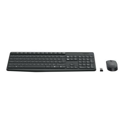 Logitech MK235 - keyboard and mouse set - French