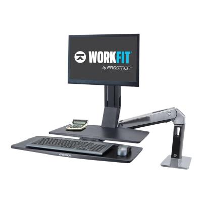 Ergotron WorkFit-A LCD HD with Worksurface+ Standing Desk - mounting kit - for LCD display / keyboard / mouse SURFACE+