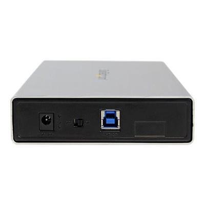 "StarTech.com 3.5in Silver Aluminum USB 3.0 External SATA III SSD / HDD Enclosure with UASP - Portable USB 3 3.5"" SATA Hard Drive Enclosure (S3510SMU33) - storage enclosure - SATA 6Gb/s - USB 3.0 DD ENCLOSURE W/ UASP"