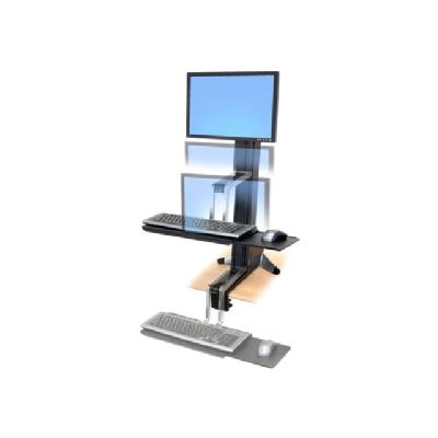 Ergotron WorkFit-S Single LD Sit-Stand Workstation Standing Desk - stand - for LCD display / keyboard / mouse Height-adjustment column  desk  clamp  LCD pivot  k