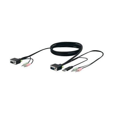 Belkin SOHO KVM Replacement Cable Kit - keyboard / video / mouse / audio cable - 3 m - B2B B 10 FEET