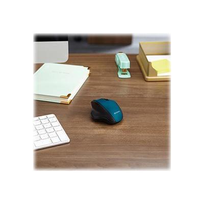 Verbatim Silent Ergonomic Wireless Blue LED Mouse - mouse - 2.4 GHz - dark teal  WRLS