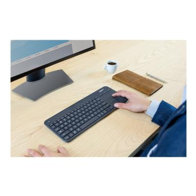 Logitech Wireless Touch Keyboard K400 Plus - keyboard - with touchpad - black  WRLS