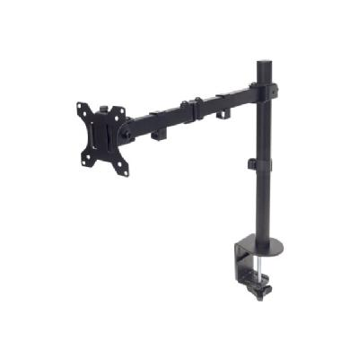 "Manhattan Monitor Desk Mount (clamp), 1 screen, 10-27"", Vesa 75x75 to 100x100mm, 3 pivots (full motion), Height 0-40cm, Max 8kg, Black - desk mount itor up to 8 kg (17 lbs.)  Bla ck"
