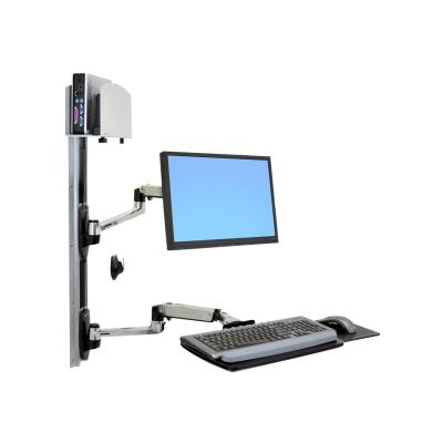 Ergotron LX Wall Mount System - mounting kit - for LCD display / keyboard / mouse / CPU luminum - Shipping Dimensions:  94 x 56 x 19 cm