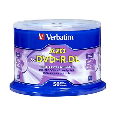 Verbatim - DVD+R DL x 50 - 8.5 GB - storage media  COLOR OPS