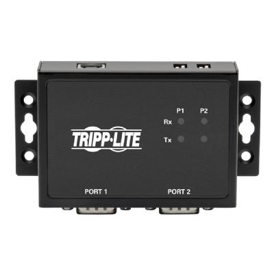 Tripp Lite RS-422/RS-485 USB to Serial FTDI Adapter with COM Retention (USB-B to DB9 F/M), 2 Ports - serial adapter - USB 2.0 - RS-422/485 x 2 RS-485 2PT