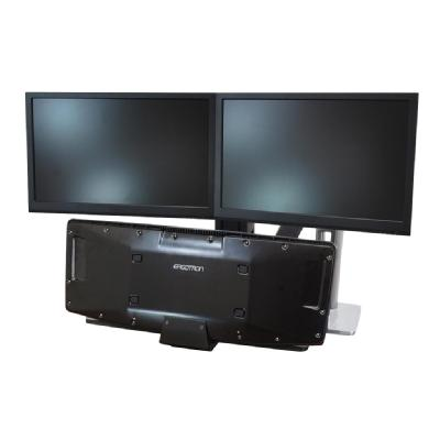 Ergotron WorkFit-A Dual with Worksurface+ Standing Desk - mounting kit - for 2 LCD displays / keyboard / mouse