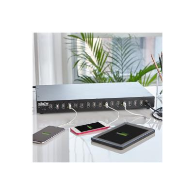 Tripp Lite 16-Port USB Charging Station with Syncing Function - 5V 40A / 200W USB Charger Output, TAA charging station ith Syncing Function - 5V 40A / 200W USB Charger O