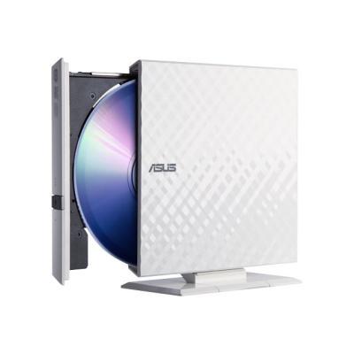 ASUS SDRW-08D2S-U - DVD±RW (±R DL) / DVD-RAM drive - USB 2.0 - external HITE DIAMOND  RETAIL for PC  M ac and Laptop