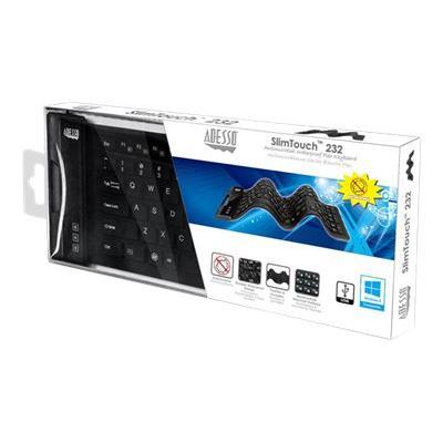 Adesso SlimTouch 232 - keyboard - US BD W/ HOT