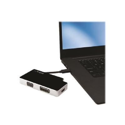 StarTech.com USB-C to VGA DVI HDMI Adapter - external video adapter - black  ADAP