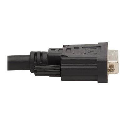Tripp Lite Dual DVI KVM Cable Kit - DVI, USB, 3.5 mm Audio (3xM/3xM) + DVI (M/M), 1080p, 10 ft., Black - video / USB / audio cable kit - 3.05 m  CABL