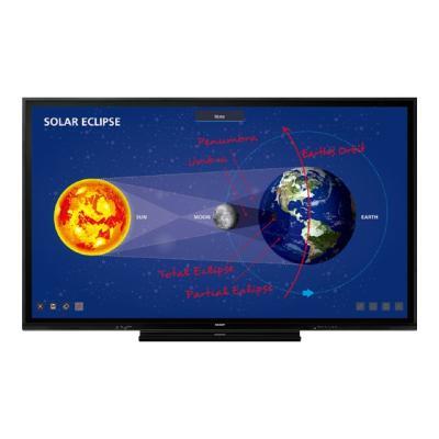 "Sharp PN-C861H Aquos Board - 86"" Class (85.6"" viewable) LED display - 4K 6indiagonal)LCD LCD3 840 2 160  pixels IR USB Scree"