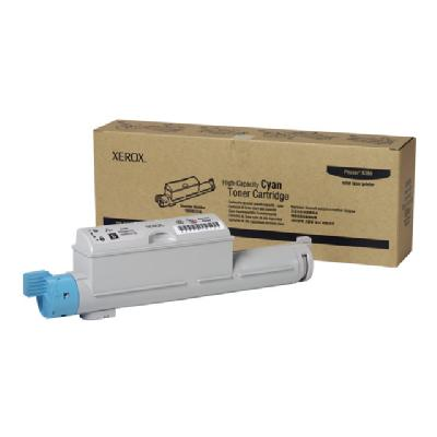 Xerox Phaser 6360 - High Capacity - cyan - original - toner cartridge  pages - PHASER 6360 360