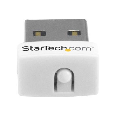 StarTech.com USB 150Mbps Mini Wireless N Network Adapter - 802.11n/g 1T1R USB WiFi Adapter - White USB Wireless Adapter - Wireless NIC (USB150WN1X1W) - network adapter - USB 2.0 - 150 MBPS USB WIFI