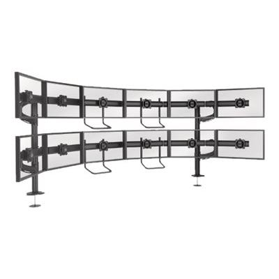 Chief Kontour Series K4G620B K4 6x2 Grommet Mounted Array - mounting kit - for 12 LCD displays - TAA Compliant  Array. Typical Screen Sizes: 19 to 24inch diagona