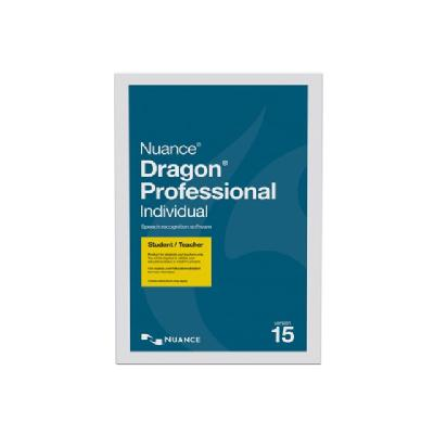Dragon Professional Individual (v. 15) - box pack - 1 user (US English)  LICS