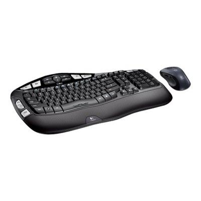 Logitech Wireless Wave Combo MK550 - keyboard and mouse set - Canadian French  WRLS