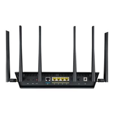 ASUS RT-AC3200 - wireless router - 802.11a/b/g/n/ac - desktop 6 external antennas. 2.4GHz/5G Hz. 4x GB LAN. Chips
