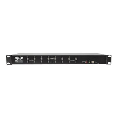 Tripp Lite 8-Port DVI/USB KVM Switch with Audio and USB 2.0 Peripheral Sharing, 1U Rack-Mount, Single-Link, 1920 x 1200 (1080p) - KVM / audio / USB switch - 8 ports - rack-mountable DIO & PERIPHERAL SHA
