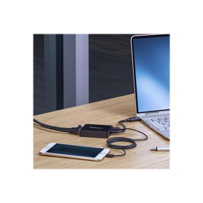 StarTech.com USB 3.0 to Dual Port Gigabit Ethernet Adapter w/ USB Port - 10/100/100 - USB Gigabit LAN Network NIC Adapter (USB32000SPT) - network adapter - USB 3.0 - 2 ports  and a USB 3.0 pass-through po rt to your laptop th