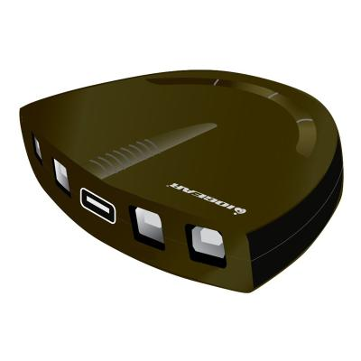 IOGEAR 4-Port USB 2.0 Printer Switch - USB-A to USB-C adapter kit - switch - 4 ports  PERP