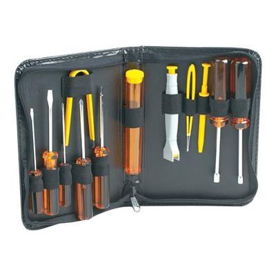Manhattan Basic Computer Tool Kit, Computer Tool Kit, 13 pieces, Carry Pouch - computer repair tool set