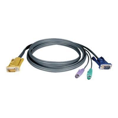 Tripp Lite 10ft PS/2 Cable Kit for KVM Switch 3-in-1 B020 / B022 Series KVMs 10' - keyboard / video / mouse (KVM) cable - 3 m 2-016 KVM
