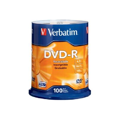 Verbatim - DVD-R x 100 - 4.7 GB - storage media edSurface  100PK  Spindle