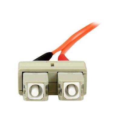 StarTech.com 2m Fiber Optic Cable - Multimode Duplex 50/125 - OFNP Plenum - SC/SC - OM2 - SC to SC Fiber Patch Cable - patch cable - 2 m - orange