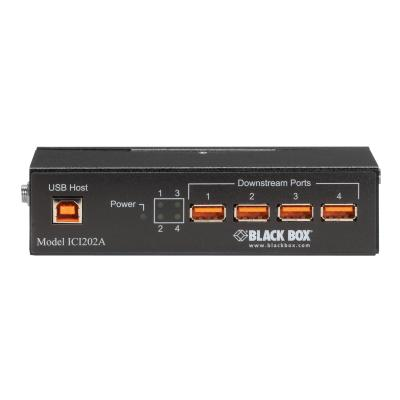 Black Box Industrial-Grade USB Hub - switch - 4 ports rt with Isolation