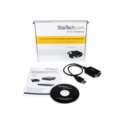 StarTech.com USB to Serial Adapter - 1 Port - COM Port Retention - Texas Instruments TIUSB3410 - USB to RS232 Adapter Cable (ICUSB2321X) - serial adapter - USB - RS-232