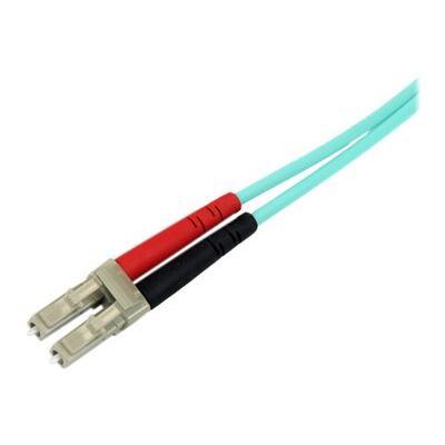 StarTech.com 3m Fiber Optic Cable - 10 Gb Aqua - Multimode Duplex 50/125 - LSZH - LC/LC - OM3 - LC to LC Fiber Patch Cable - cordon de raccordement - 3 m - turquoise nnées transferts   safely par -dessus haut end ges