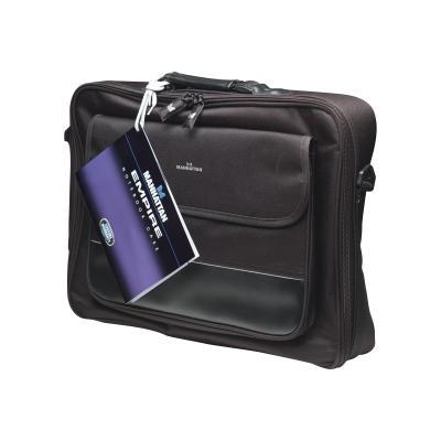 "Manhattan Empire Laptop Bag 17.3"", Clamshell design, Accessories Pocket, Black notebook carrying case UTER"