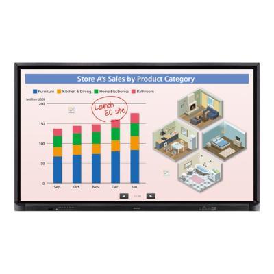 "Sharp PN-CE701H Aquos Board - 70"" Class (69.5"" viewable) LED-backlit LCD display - 4K 2indiagonal)LCD LCD3 840 2 160  pixels IR USB Scree"