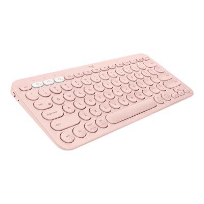 Logitech K380 Multi-Device Bluetooth Keyboard - keyboard - QWERTY - US - rose etooth Keyboard-Rose