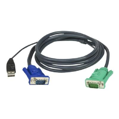 ATEN 2L-5201U - keyboard / video / mouse (KVM) cable - 1.2 m use (KVM) cable - 4 pin USB Ty pe A  HD-15 (M) - 15