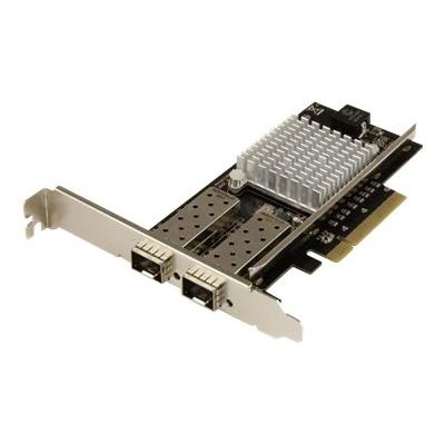 StarTech.com 10G Network Card - 2x 10G Open SFP+ Multimode LC Fiber Connector - Intel 82599 Chip - Gigabit Ethernet Card (PEX20000SFPI) - network adapter - PCIe 2.0 x4 rver or workstation for fast h igh-bandwidth connec